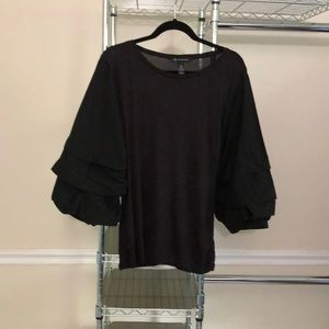 INC International Concepts Black Blouse-Large